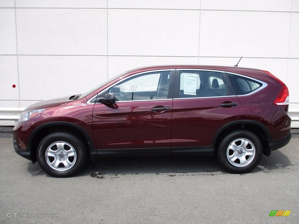 2014 CR-V LX AWD - Basque Red Pearl II / Gray photo #2