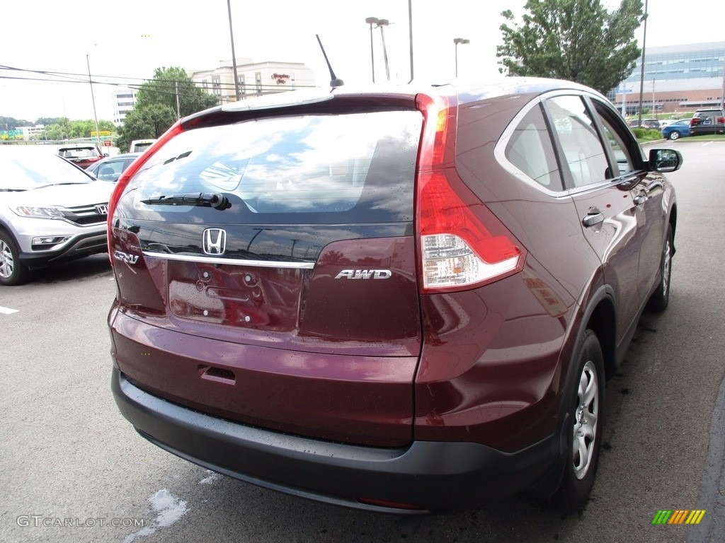 2014 CR-V LX AWD - Basque Red Pearl II / Gray photo #6