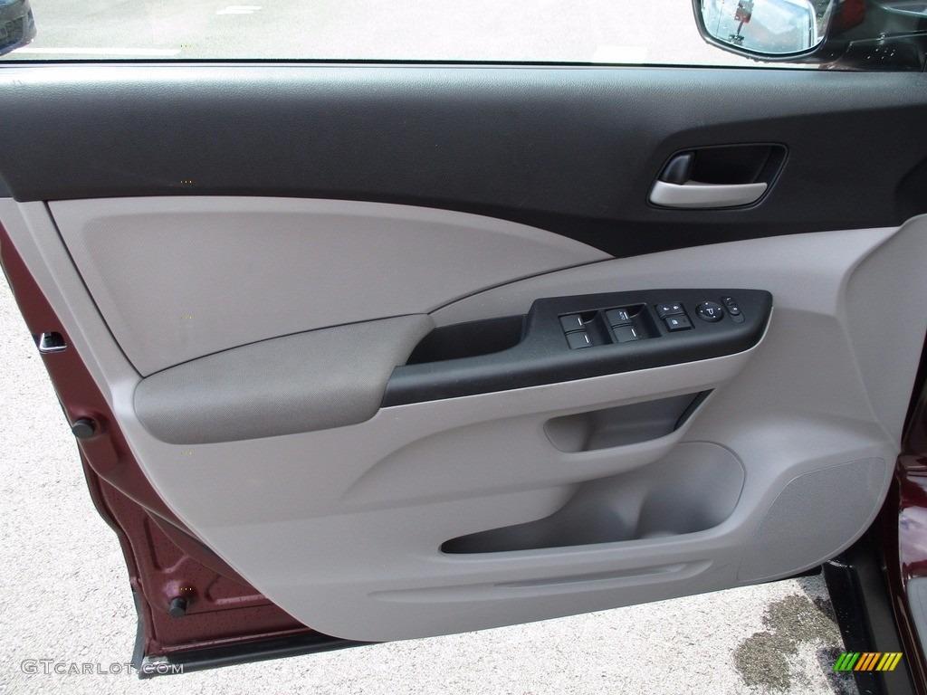 2014 CR-V LX AWD - Basque Red Pearl II / Gray photo #10