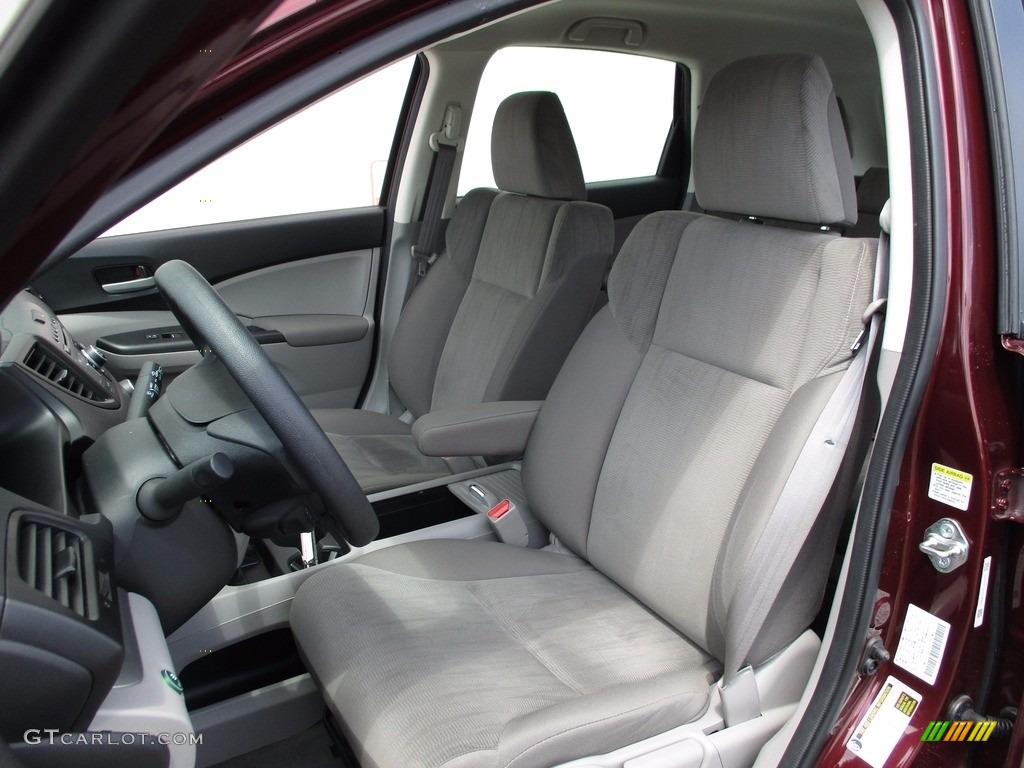 2014 CR-V LX AWD - Basque Red Pearl II / Gray photo #11