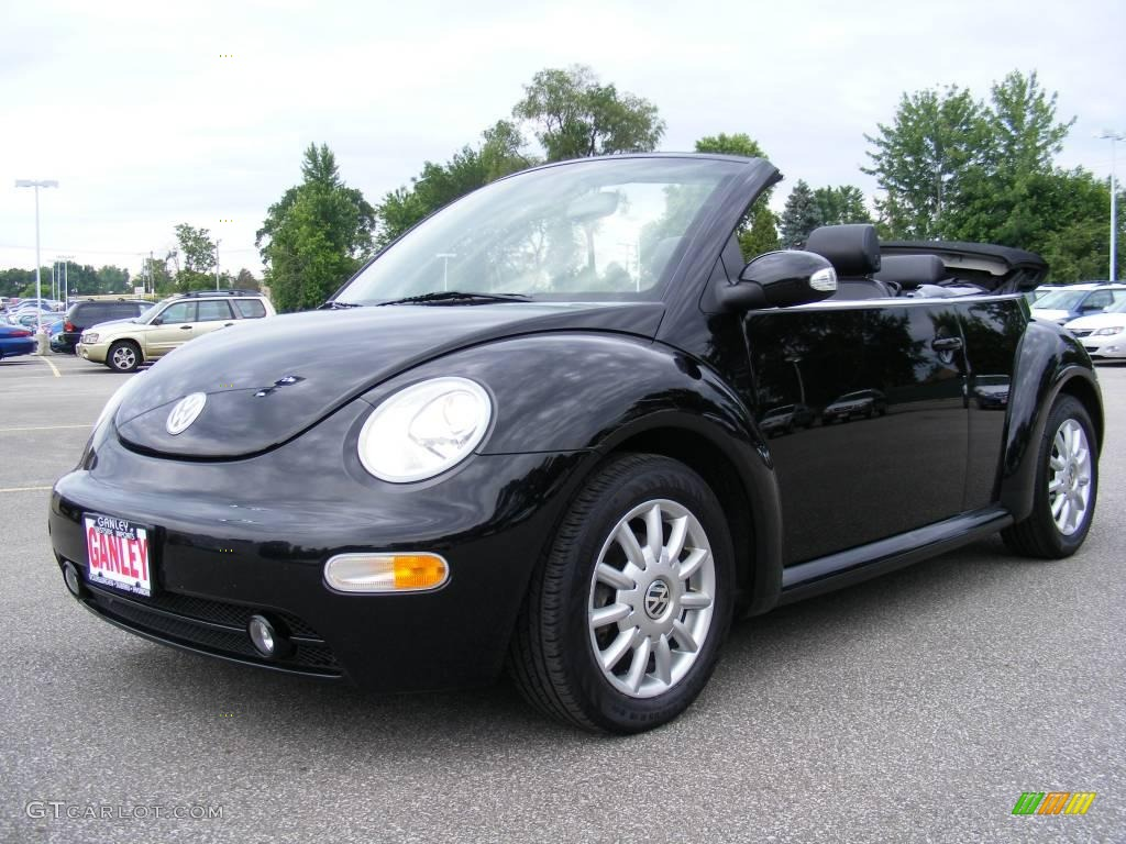2005 uni black volkswagen new beetle gls convertible 12130215 car color galleries. Black Bedroom Furniture Sets. Home Design Ideas