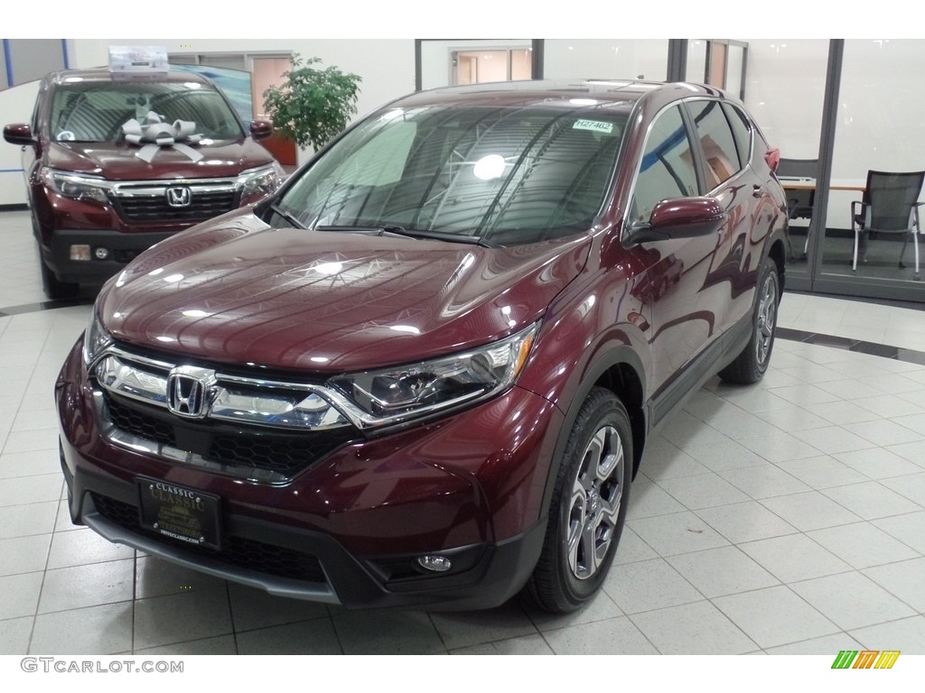 2017 CR-V EX-L AWD - Basque Red Pearl II / Gray photo #1