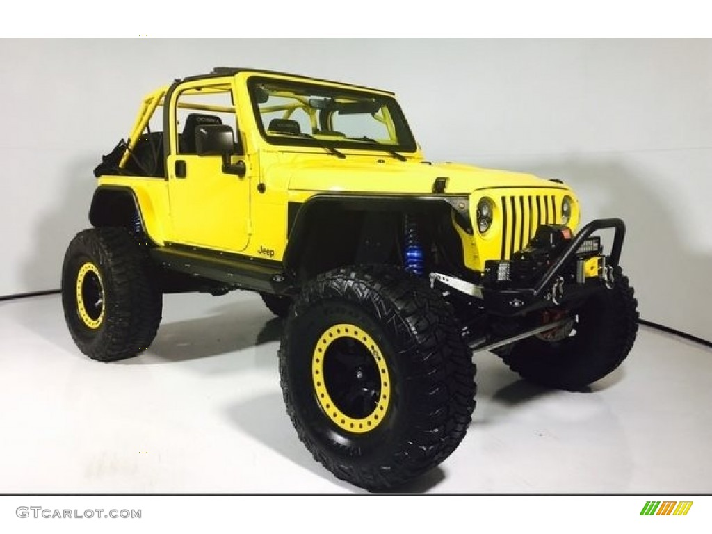 2002 Solar Yellow Jeep Wrangler Sport 4x4 121245052 Gtcarlot Com Car Color Galleries