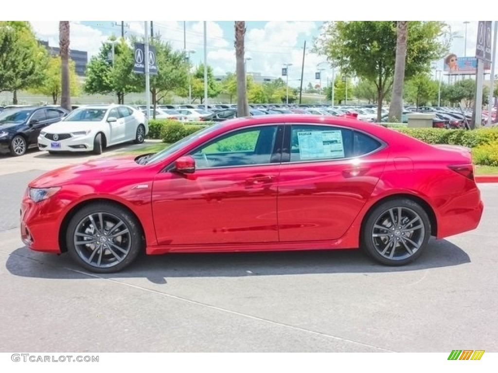 San Marino Red 2018 Acura TLX V6 A-Spec Sedan Exterior Photo #121600667