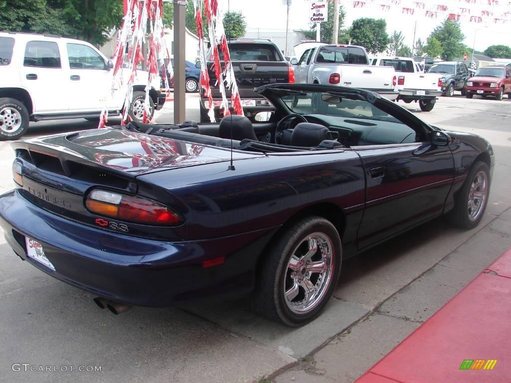 2001 Navy Blue Metallic Chevrolet Camaro Ss Convertible