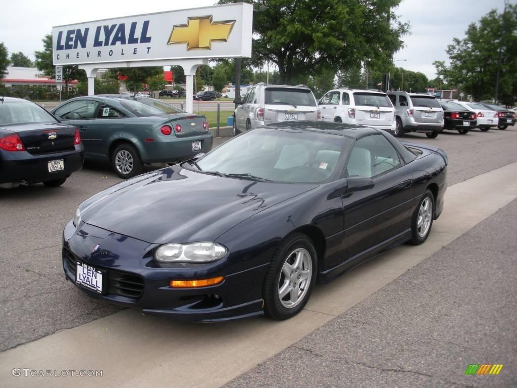 1998 navy blue metallic chevrolet camaro z28 coupe #12126444