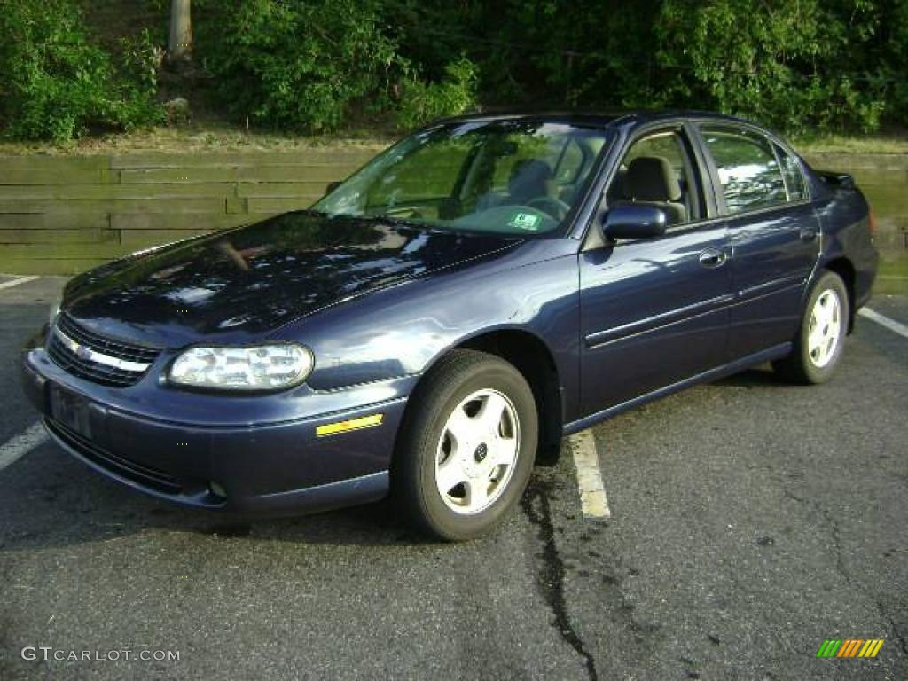 2001 navy blue metallic chevrolet malibu ls sedan. Black Bedroom Furniture Sets. Home Design Ideas