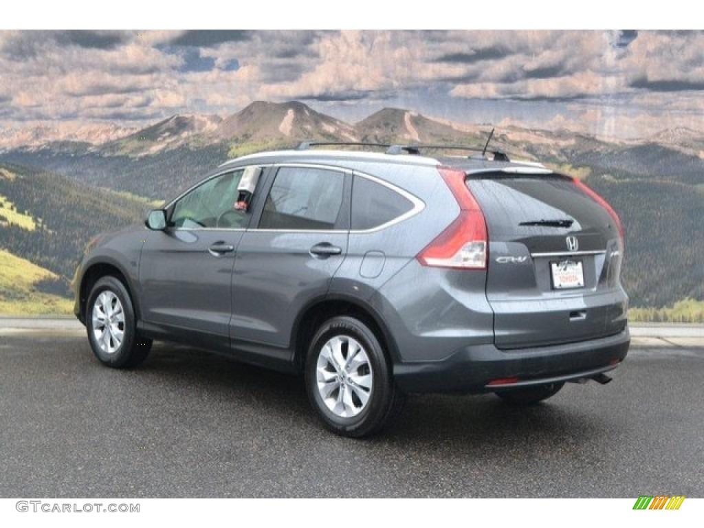 2014 CR-V EX-L AWD - Urban Titanium Metallic / Gray photo #8