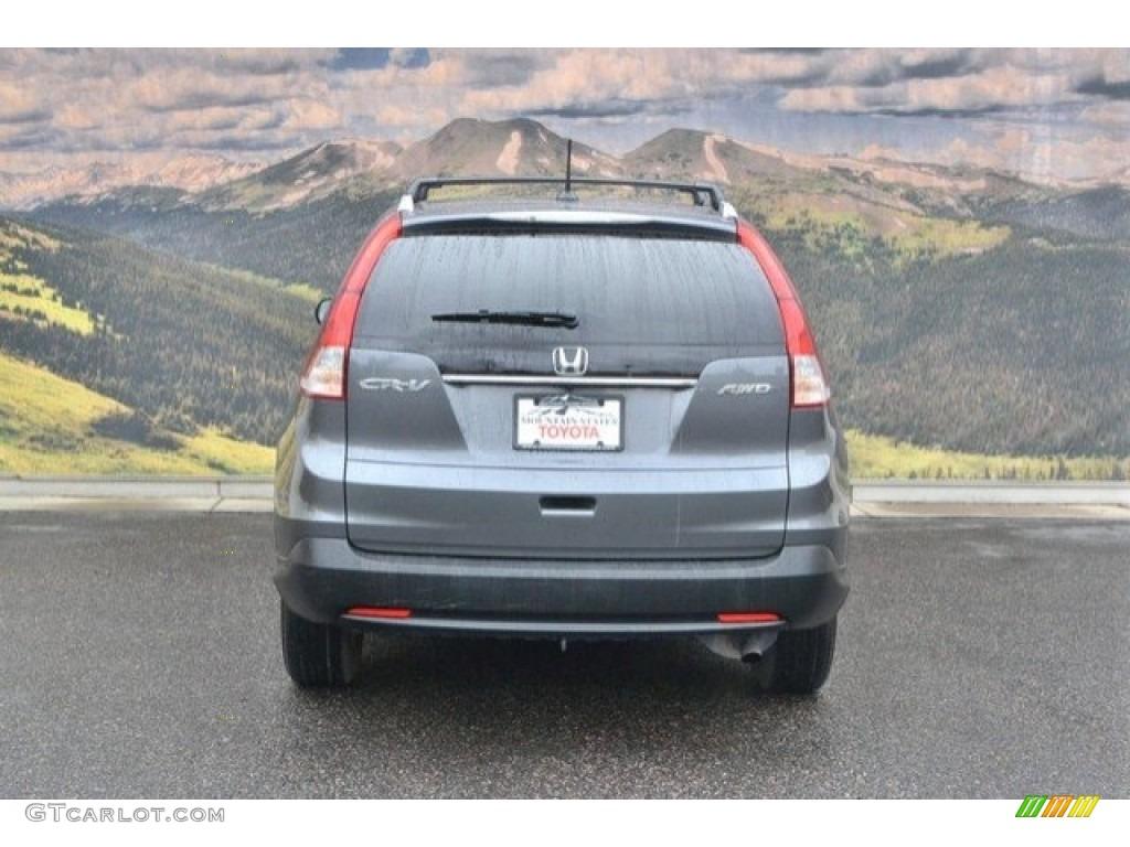 2014 CR-V EX-L AWD - Urban Titanium Metallic / Gray photo #9