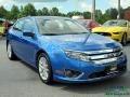 2012 Blue Flame Metallic Ford Fusion SEL  photo #7