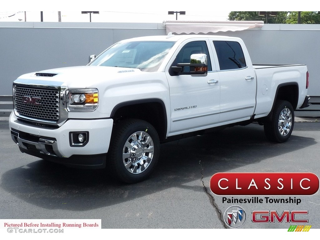 2017 Summit White Gmc Sierra 2500hd Denali Crew Cab 4x4 121687244 Gtcarlot Com Car Color Galleries