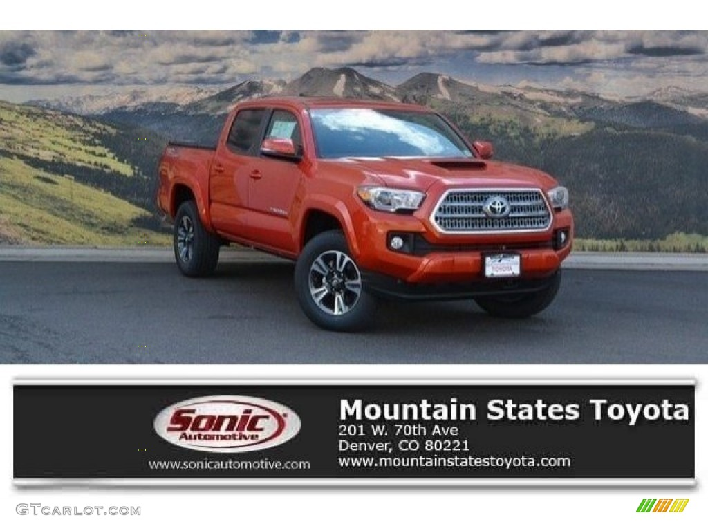 2017 inferno orange toyota tacoma trd sport double cab 4x4 121687017 car color. Black Bedroom Furniture Sets. Home Design Ideas