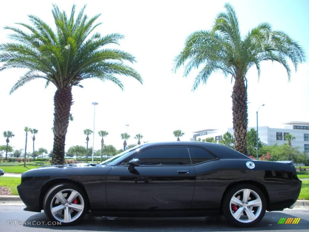 2008 challenger srt8 brilliant black crystal pearl dark slate gray photo 1