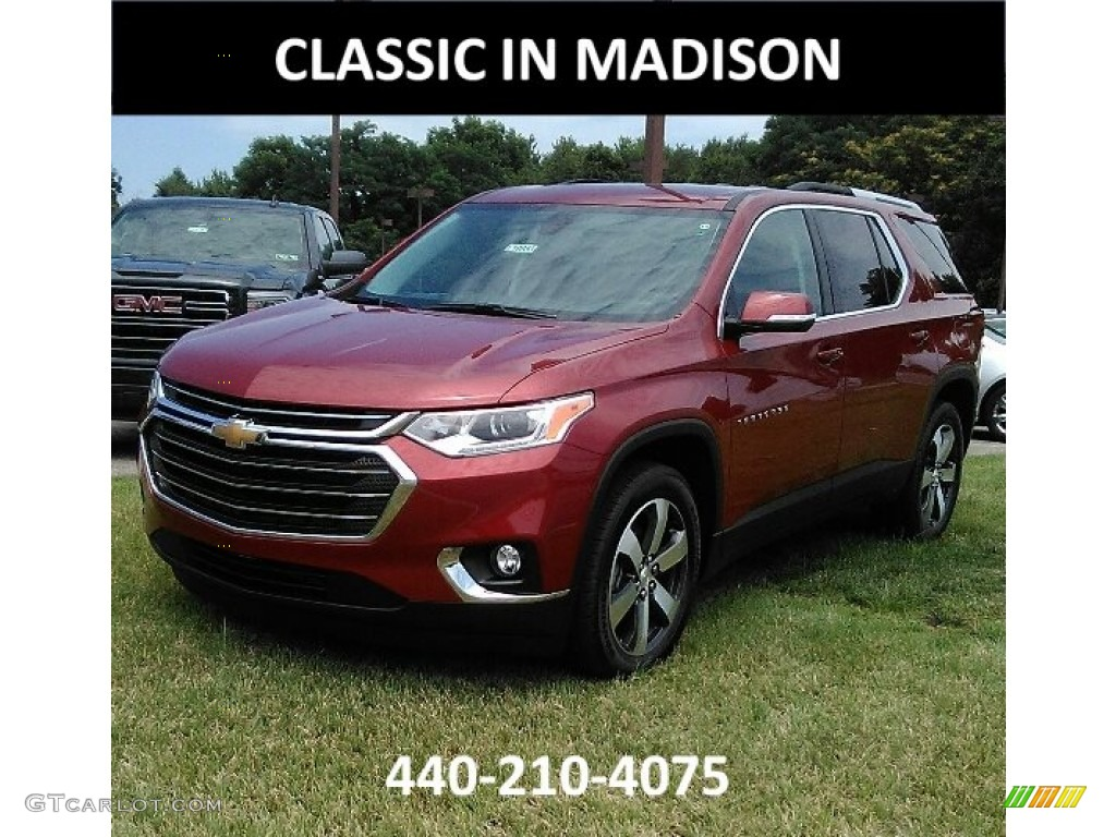 2018 Cajun Red Tintcoat Chevrolet Traverse LT AWD ...