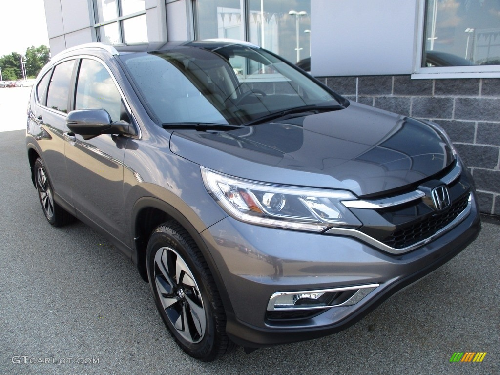 2015 CR-V Touring - Modern Steel Metallic / Gray photo #19