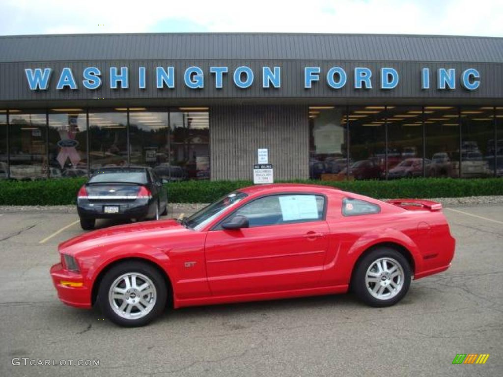 2007 Mustang GT Premium Coupe - Torch Red / Light Graphite photo #1