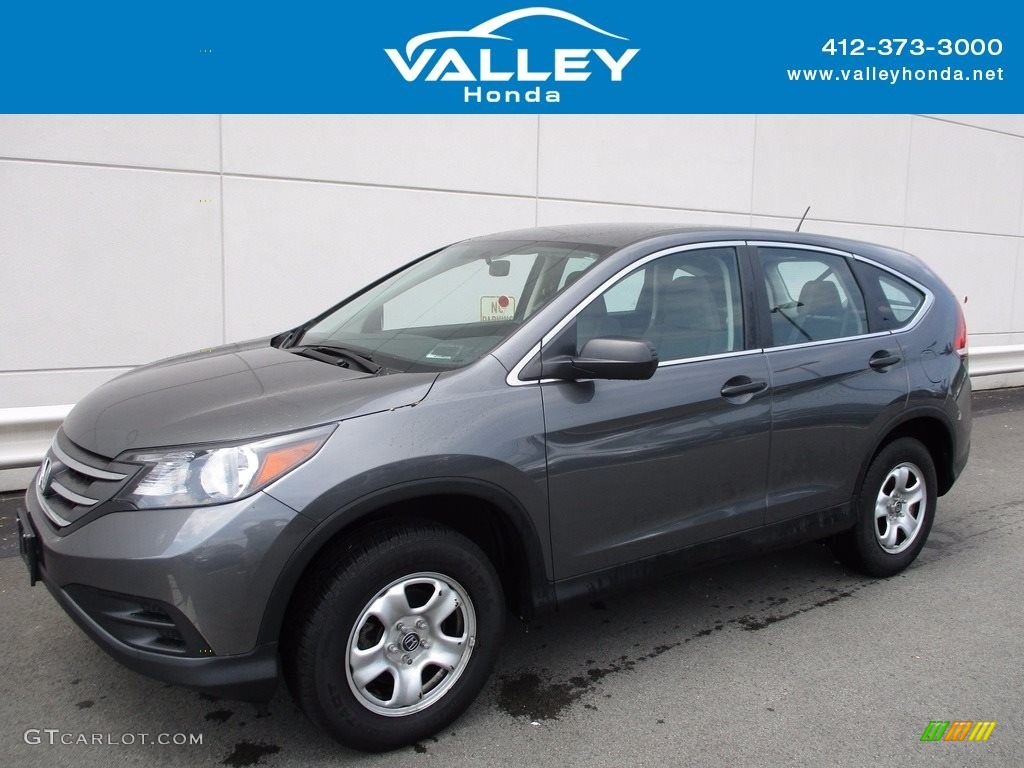 2014 CR-V LX AWD - Polished Metal Metallic / Gray photo #1