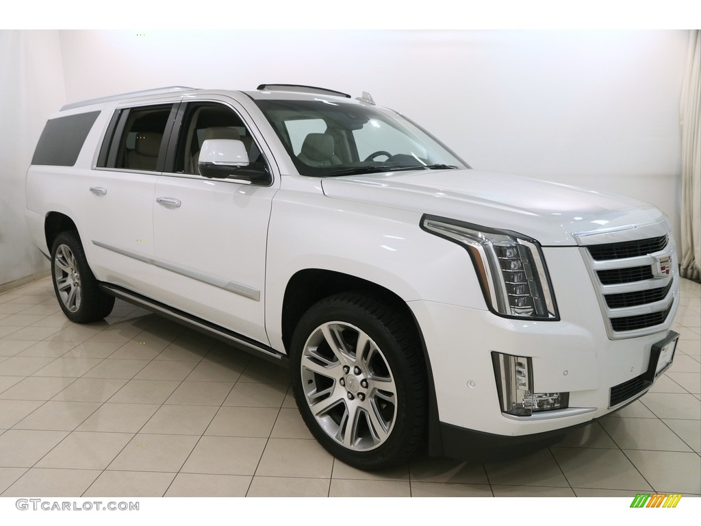 2017 Crystal White Tricoat Cadillac Escalade Esv 4wd 121734968 Photo 5 Car