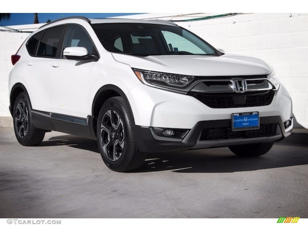 2017 CR-V Touring AWD - White Diamond Pearl / Black photo #1