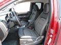 2017 GMC Canyon Jet Black Interior Front Seat Photo