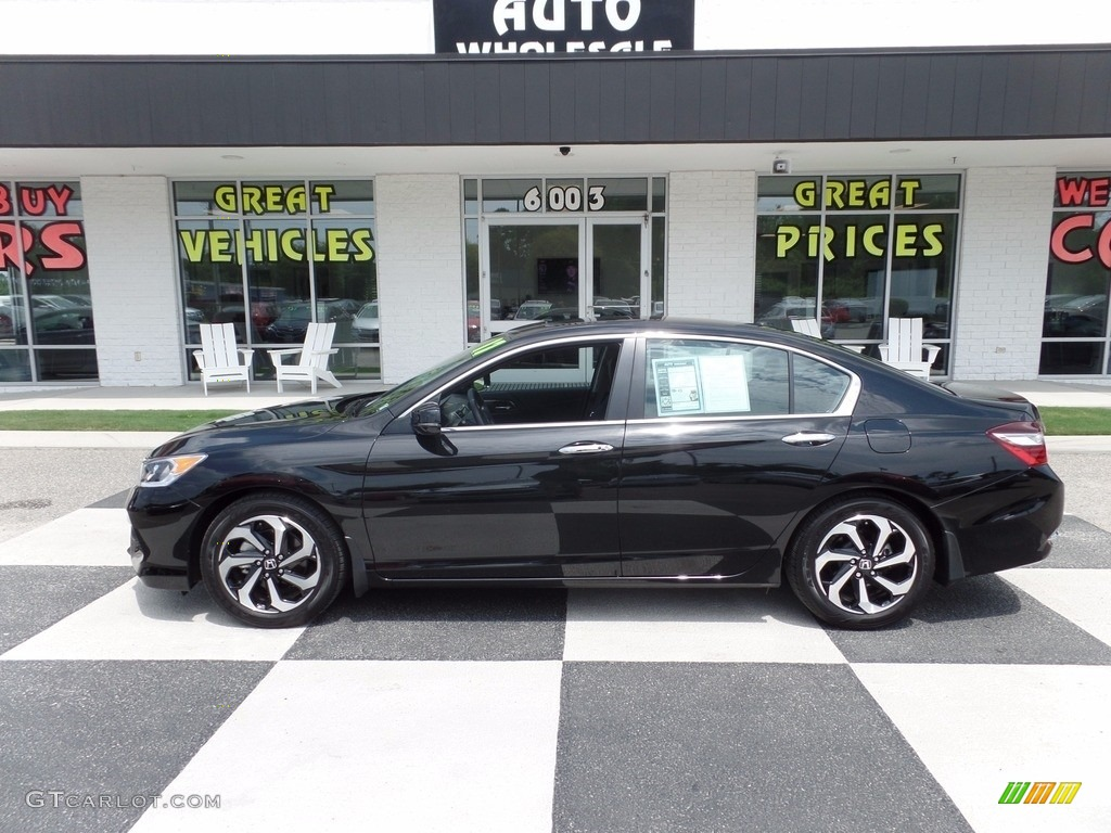 2017 Crystal Black Pearl Honda Accord EX-L Sedan ...