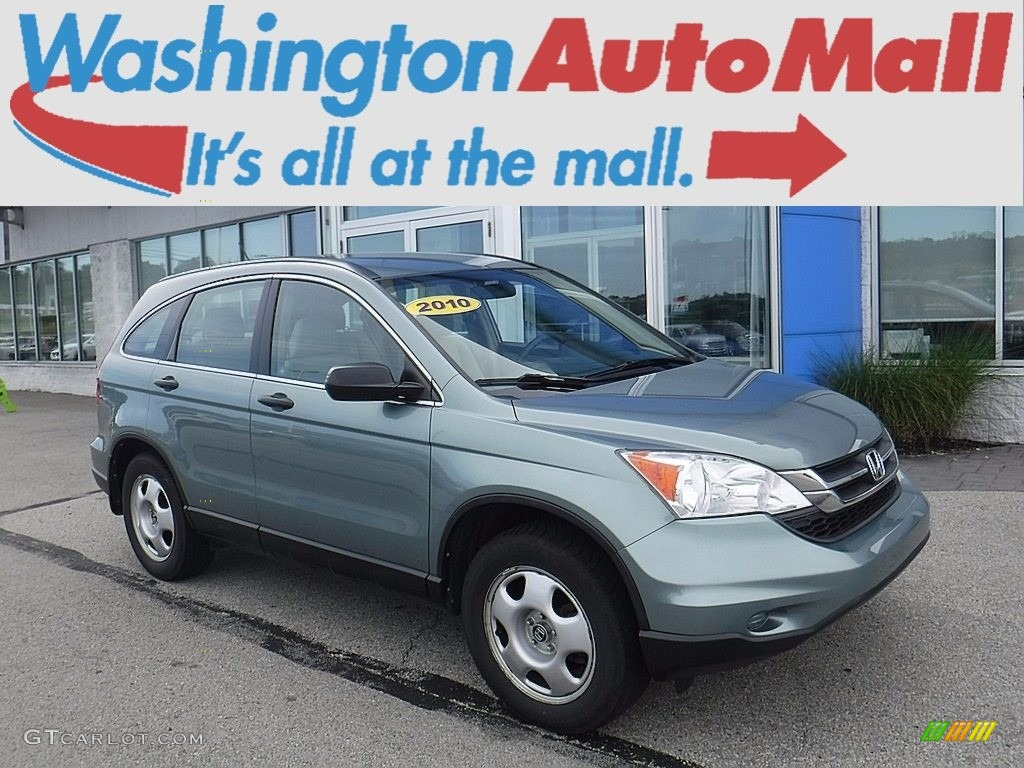 2010 CR-V LX AWD - Opal Sage Metallic / Ivory photo #1