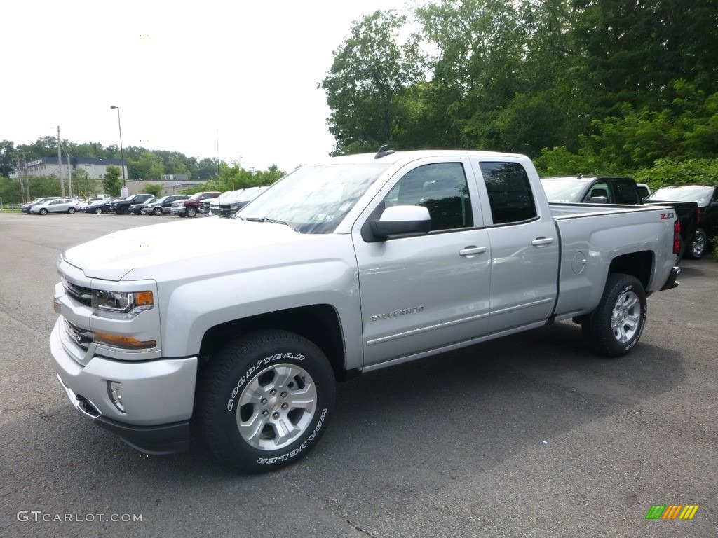 2018 Silverado 1500 LT Double Cab 4x4 - Silver Ice Metallic / Jet Black photo #1