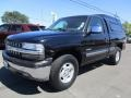 2002 Onyx Black Chevrolet Silverado 1500 LS Regular Cab 4x4  photo #3