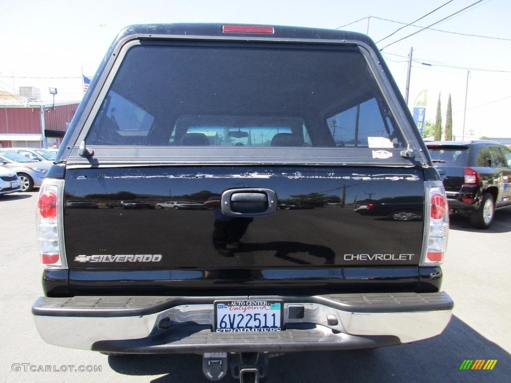 2002 Silverado 1500 LS Regular Cab 4x4 - Onyx Black / Graphite Gray photo #6