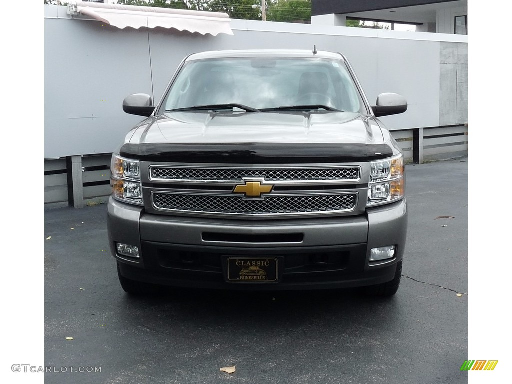 2012 Silverado 1500 LTZ Extended Cab 4x4 - Graystone Metallic / Ebony photo #4