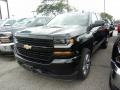 2018 Black Chevrolet Silverado 1500 Custom Double Cab 4x4  photo #1
