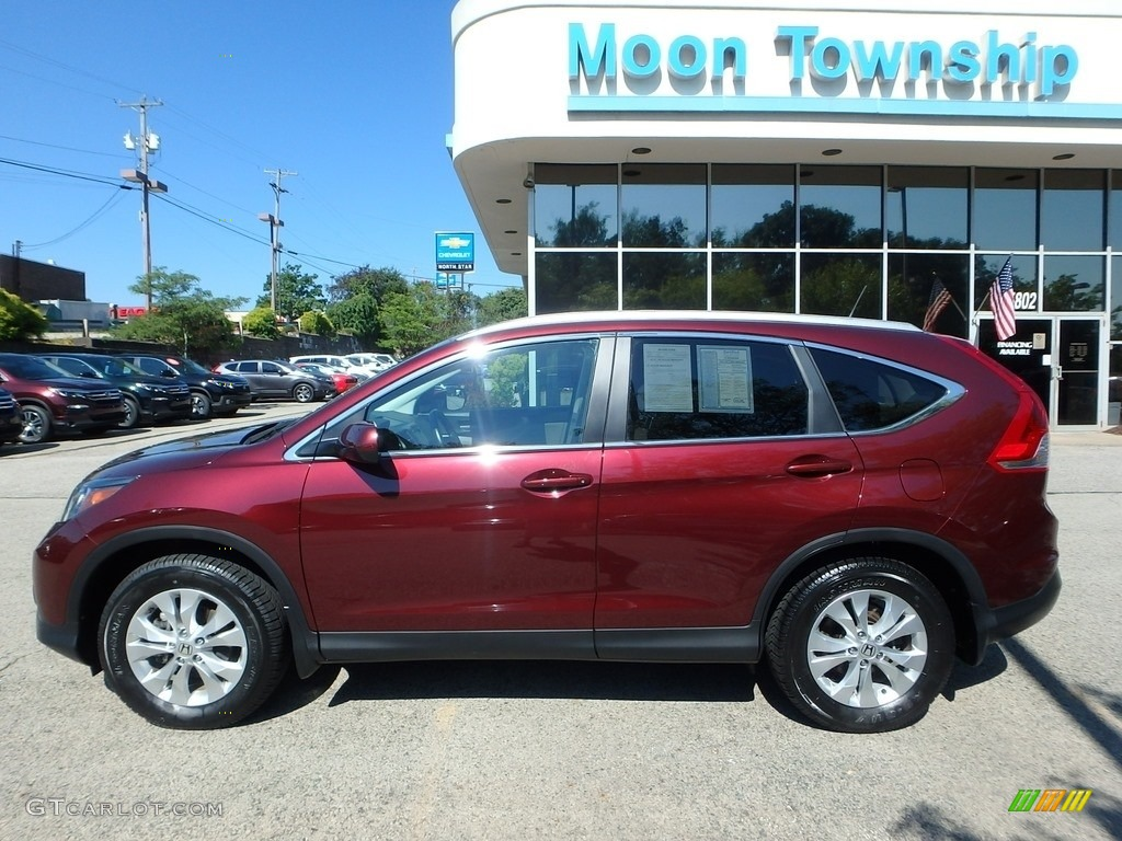 2014 CR-V EX-L AWD - Basque Red Pearl II / Gray photo #2