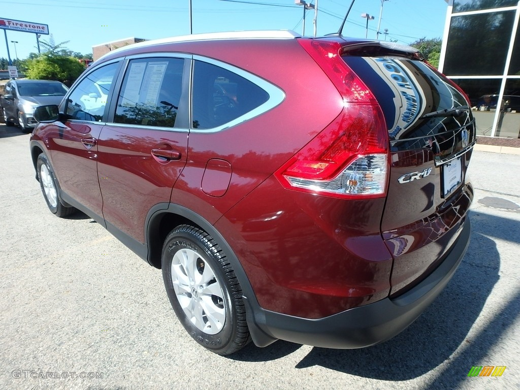 2014 CR-V EX-L AWD - Basque Red Pearl II / Gray photo #3