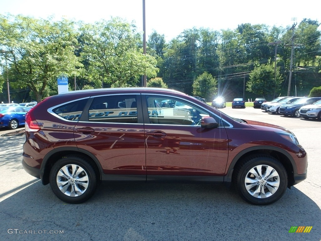 2014 CR-V EX-L AWD - Basque Red Pearl II / Gray photo #7
