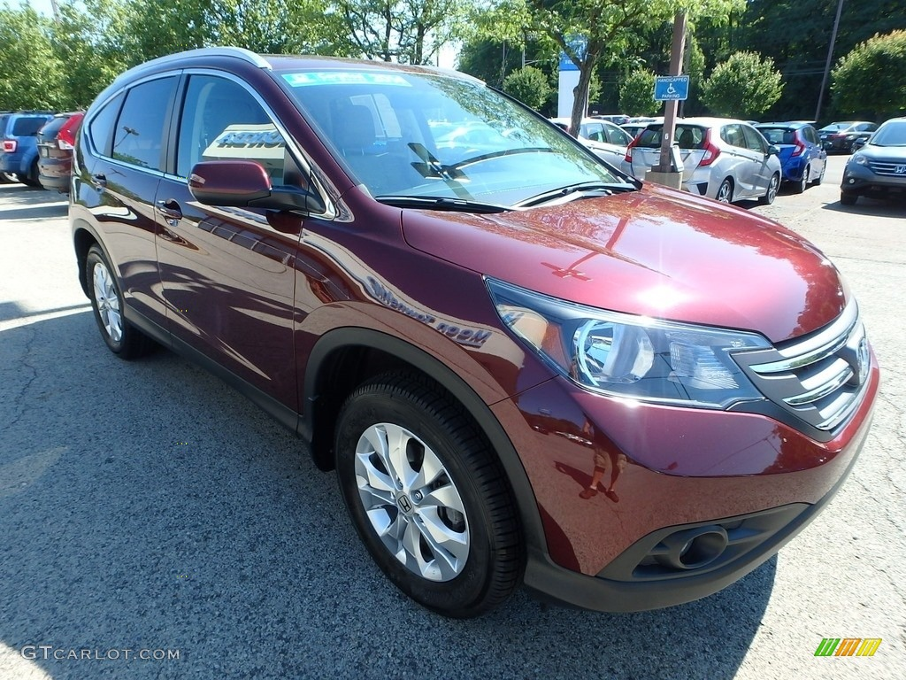 2014 CR-V EX-L AWD - Basque Red Pearl II / Gray photo #8