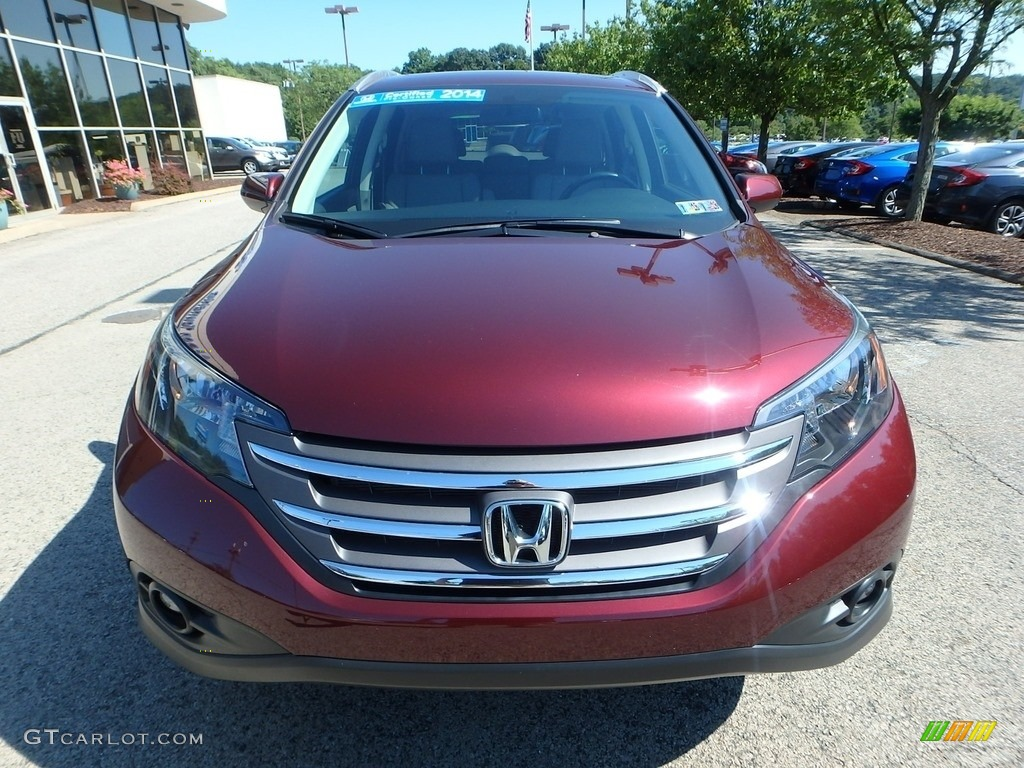 2014 CR-V EX-L AWD - Basque Red Pearl II / Gray photo #9