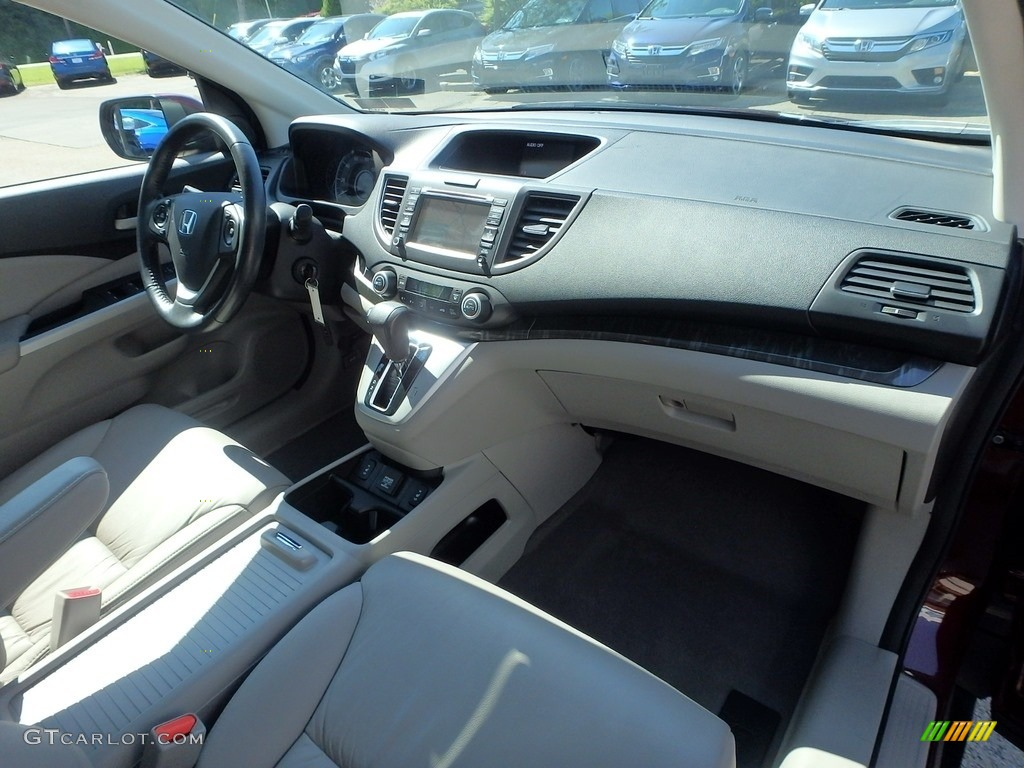 2014 CR-V EX-L AWD - Basque Red Pearl II / Gray photo #12