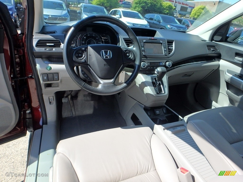 2014 CR-V EX-L AWD - Basque Red Pearl II / Gray photo #17
