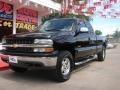 2000 Onyx Black Chevrolet Silverado 1500 LS Extended Cab 4x4  photo #7