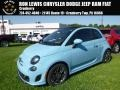 Celeste Blu (Retro Light Blue) 2017 Fiat 500c Abarth
