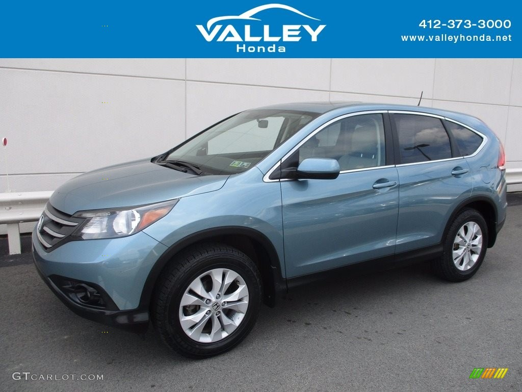 2014 CR-V EX AWD - Mountain Air Metallic / Beige photo #1