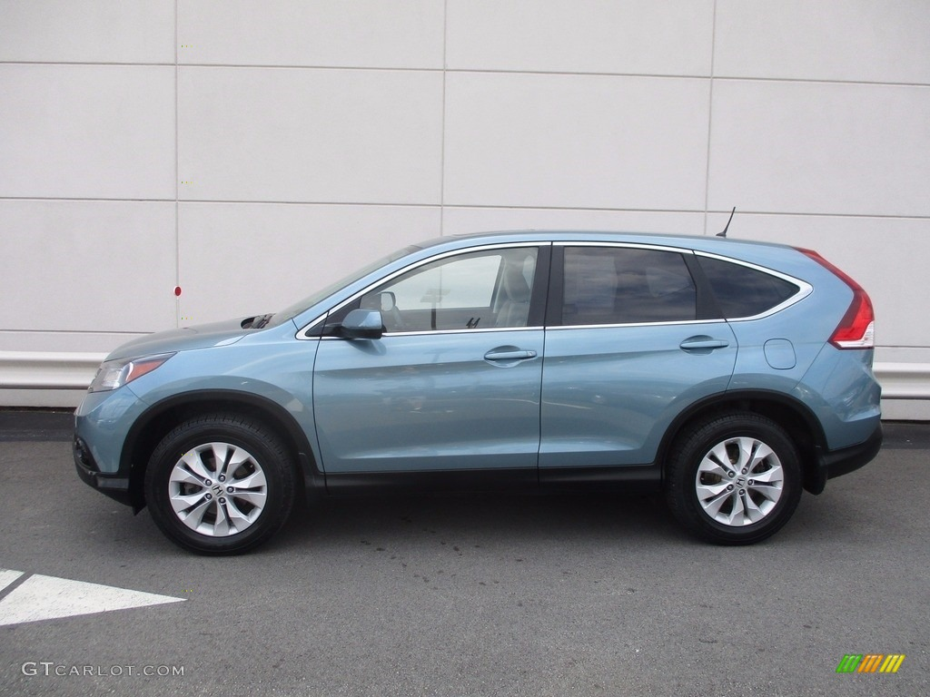 2014 CR-V EX AWD - Mountain Air Metallic / Beige photo #2