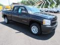 2013 Black Chevrolet Silverado 1500 Work Truck Extended Cab  photo #3