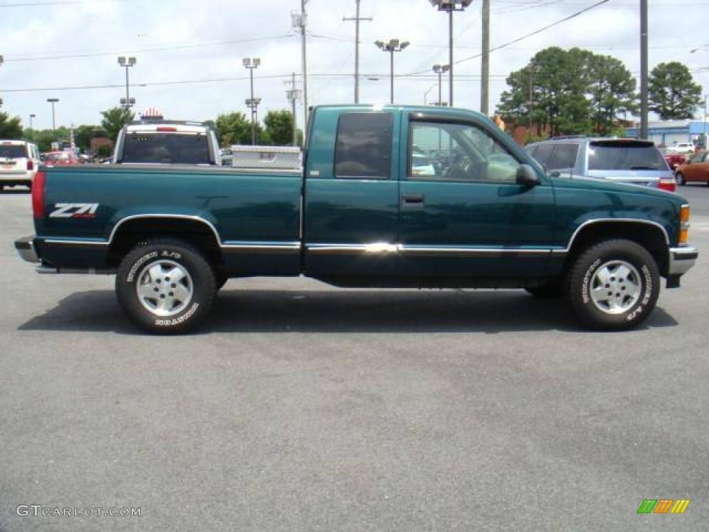 1995 c k k1500 silverado z71 extended cab 4x4 emerald green metallic gray
