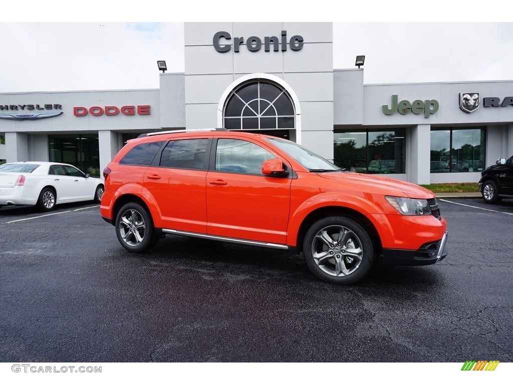 2017 Blood Orange Dodge Journey Crossroad 122023511