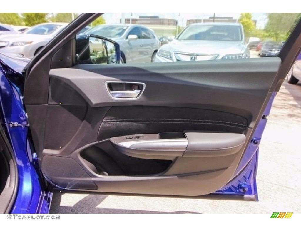 2018 Acura TLX V6 A-Spec Sedan Ebony Door Panel Photo #122043272