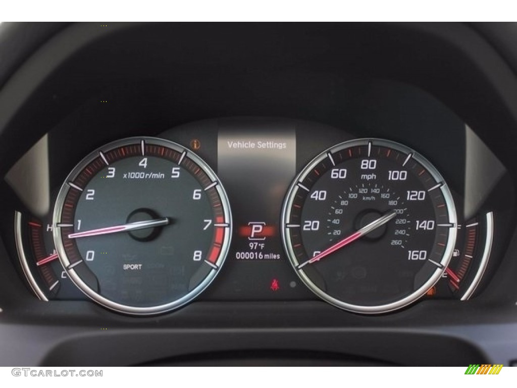 2018 Acura TLX V6 A-Spec Sedan Gauges Photo #122043599