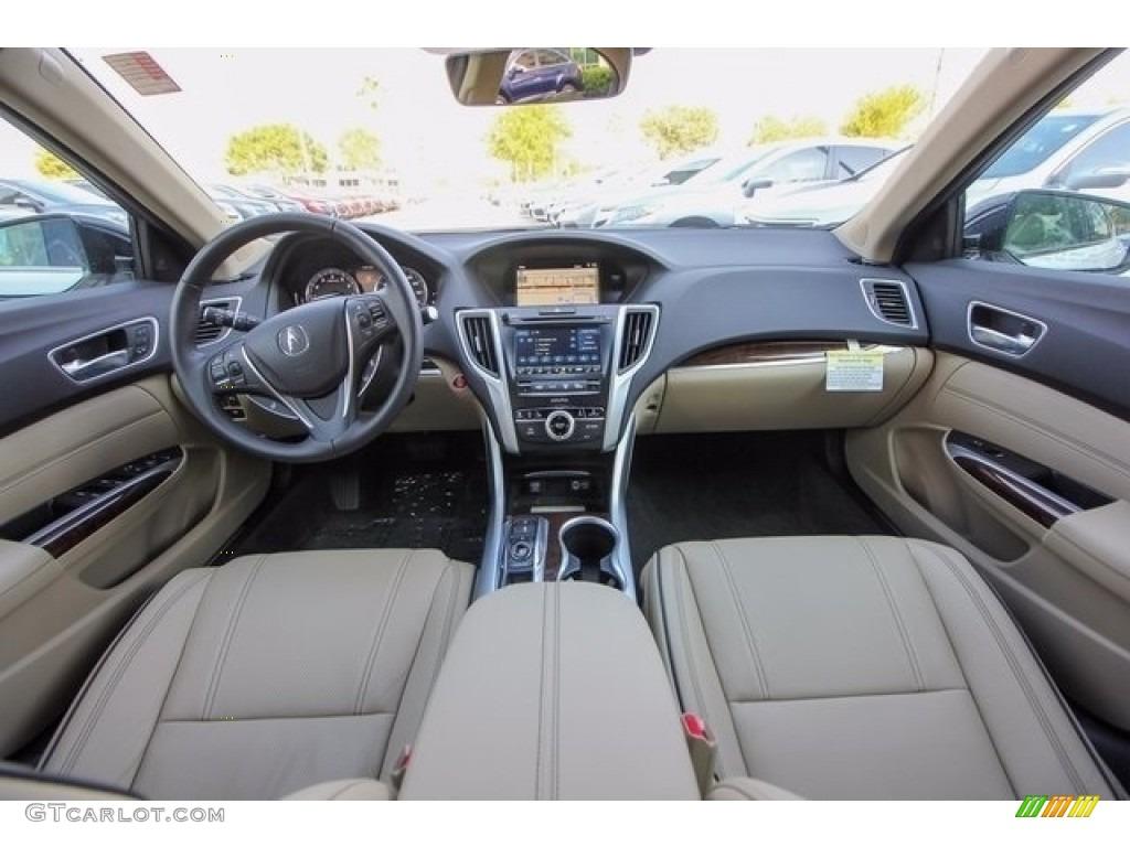 Parchment Interior 2018 Acura TLX V6 SH-AWD Advance Sedan Photo #122051294