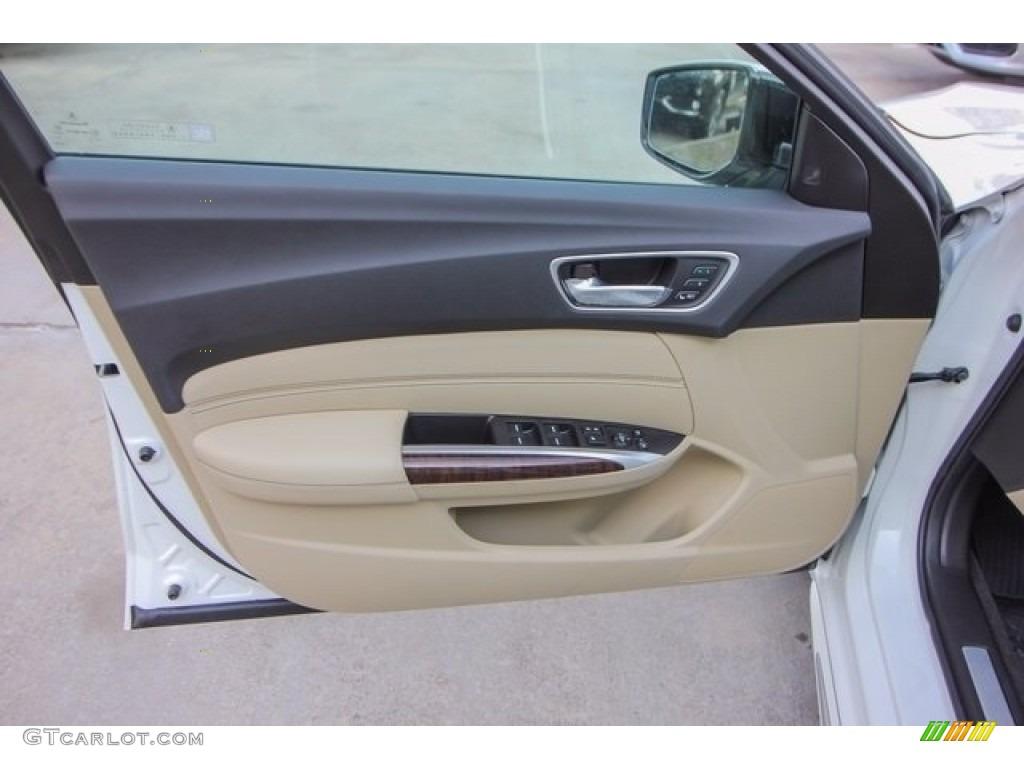 2018 Acura TLX V6 SH-AWD Advance Sedan Parchment Door Panel Photo #122051339