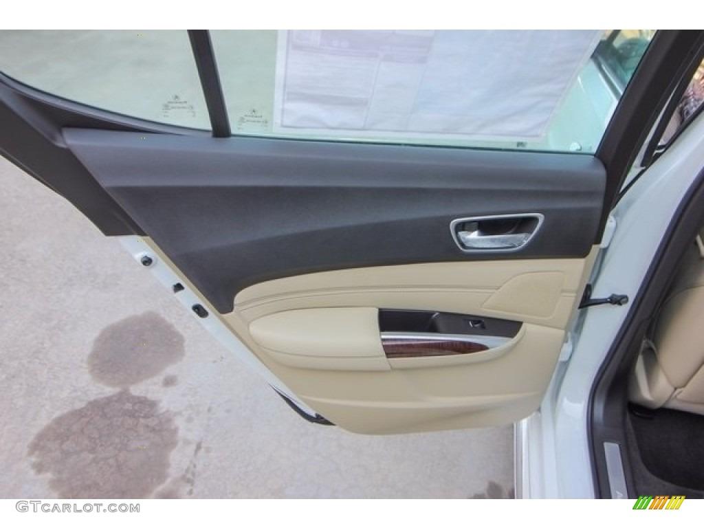 2018 Acura TLX V6 SH-AWD Advance Sedan Parchment Door Panel Photo #122051348